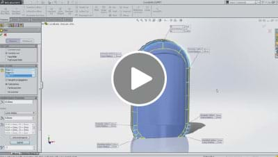 SOLIDWORKS 2014 What's New Video - Conic Fillet