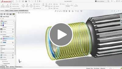What's New in SOLIDWORKS 2016 - Thread Feature