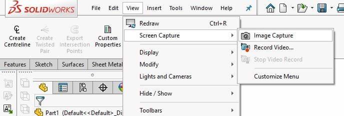 SOLIDWORKS   Quick Tip - Image Capture