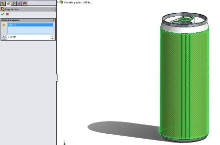 SOLIDWORKS Copy Surface