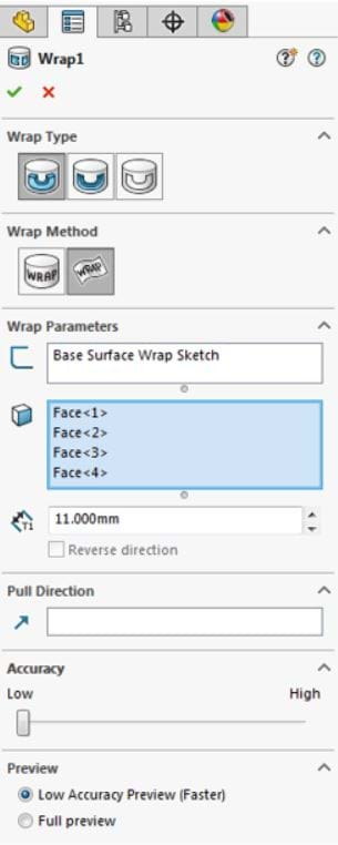What's new with the Wrap Feature in SOLIDWORKS 2017?