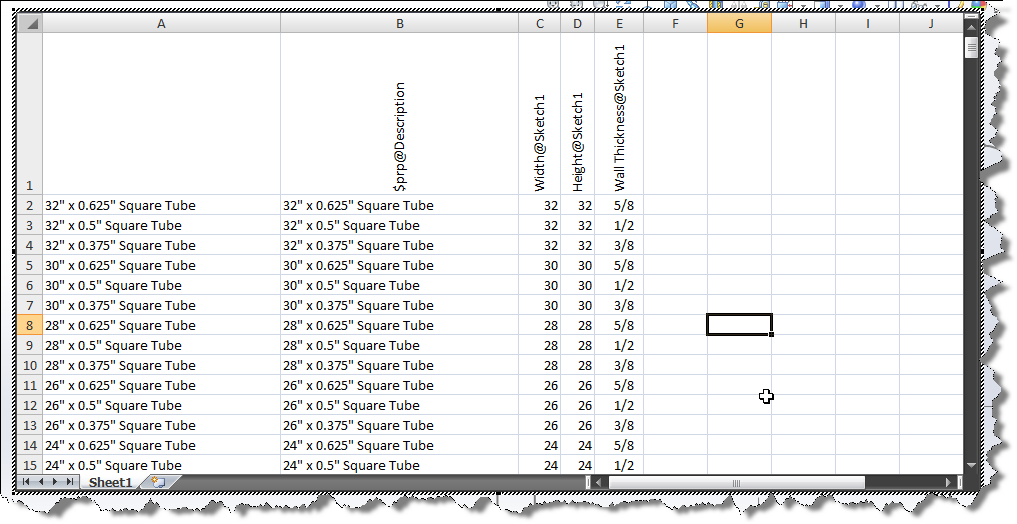 Solidworks 2014 configuration based weldment profiles for Design table not working solidworks