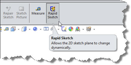 The Rapid sketch icon sits at the end of the Sketch Toolbar