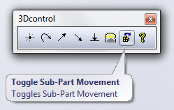 SOLIDWORKS ToggleSubPartMovement button