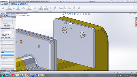SOLIDWORKS Smart Fasteners