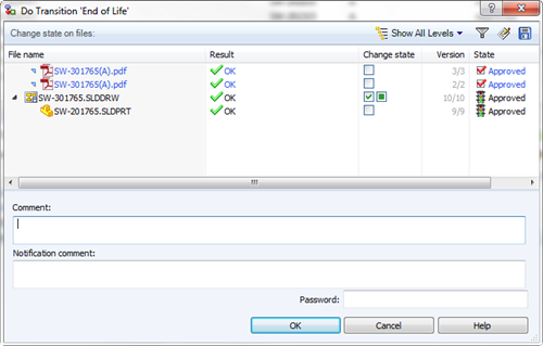 Configuring EPDM to allow for a 'linked' PDF to follow it's Drawing th
