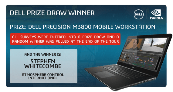 SOLIDWORKS 2014 Launch Dell Prize Draw Winner