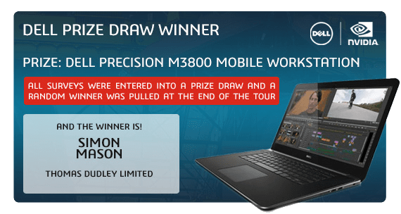 SOLIDWORKS 2015 Launch Dell Prize Draw Winner