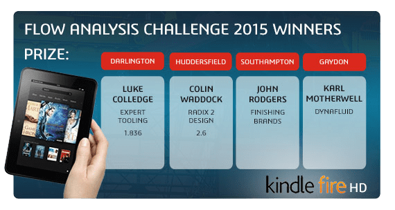 SOLIDWORKS 2015 Launch Flow Analysis Optimisation Prize Winners