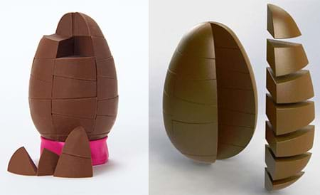 SOLIDWORKS Chocolate Egg Render