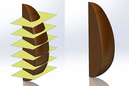SOLIDWORKS Chocolate Egg Split