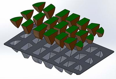 SOLIDWORKS Chocolate Egg Tray