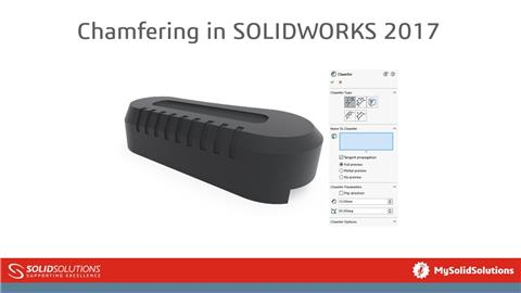 Chamfering in SOLIDWORKS 2017