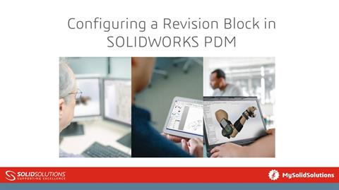 Configuring a Revision Block in PDM