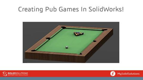 Creating pub games in SOLIDWORKS