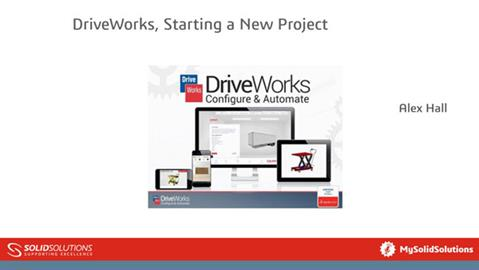 DriveWorks-Starting-A-New-Project