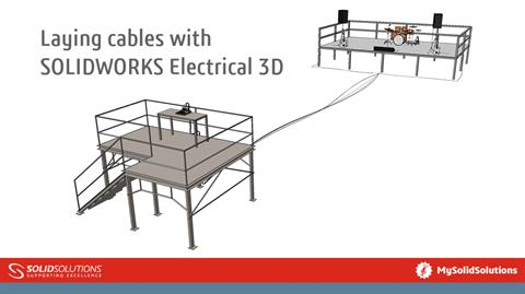 Laying cables with SOLIDWORKS Electrical 3D