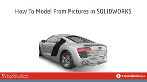 How to model from pictures in SOLIDWORKS