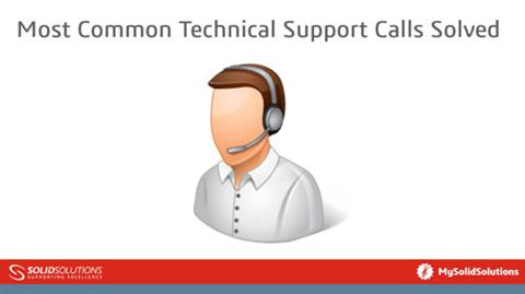 Most Common Technical Support Calls Solved