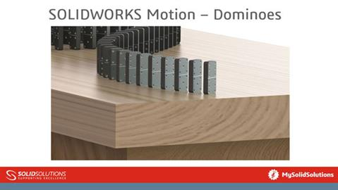 SOLIDWORKS Motion - Dominoes