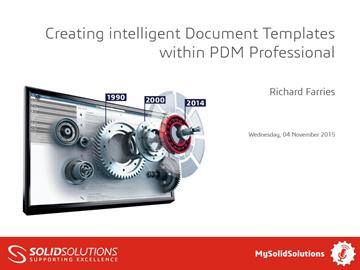 Creating Document Templates within SOLIDWORKS PDM