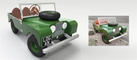 Series 1 Land Rover pedal car made easy with Solid