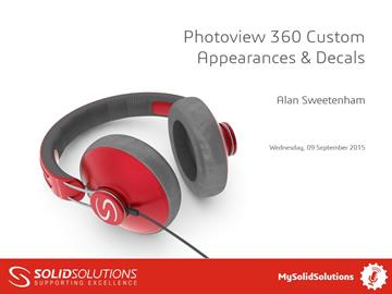 Photoview 360 Custom Appearances & Decals