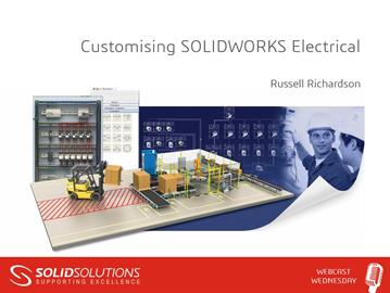 Customising SOLIDWORKS Electrical