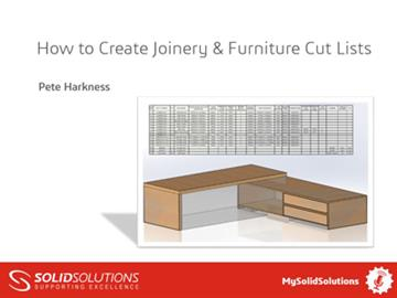 How to Create Joinery & Furniture Cut Lists