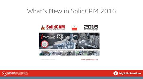 What's New in SolidCAM 2016