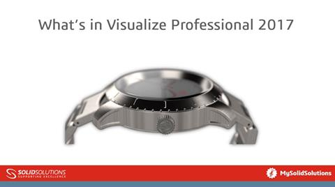 Whats in SOLIDWORKS Visualize Professional 2017