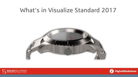 Whats in SOLIDWORKS Visualize standard 2017?