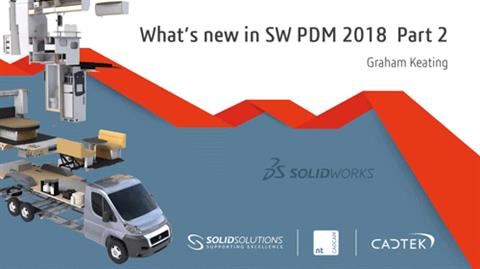 Whats in SW PDM 2018 - Part 2