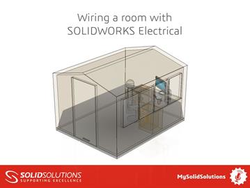 Wiring a room with SOLIDWORKS Electrical