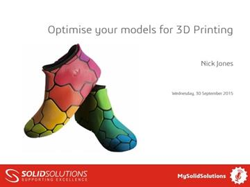 Optimise your models for 3D Printing