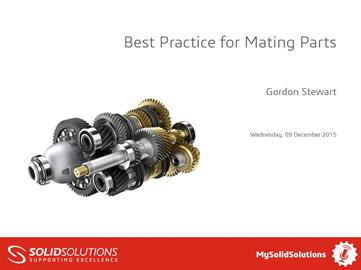 SOLIDWORKS Best Practice for Mating Parts