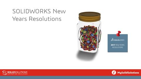 SOLIDWORKS New Years Resolutions