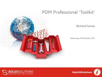SOLIDWORKS PDM Professional 'Toolkit'