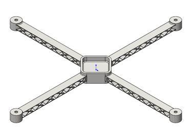 SOLIDWORKS Simulation Quadcopter Design Study