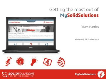 Getting the most out of MySolidSolutions
