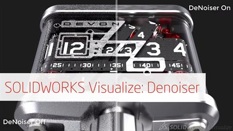 SOLIDWORKS Visualize - Introducing AI Denoiser