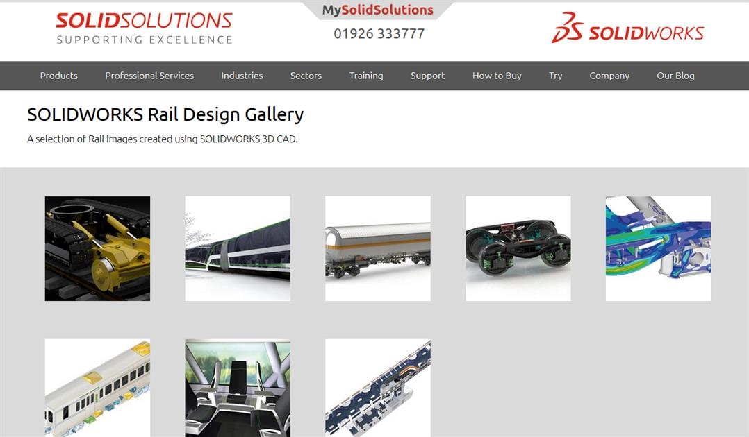 SOLIDWORKS Rail Design Gallery