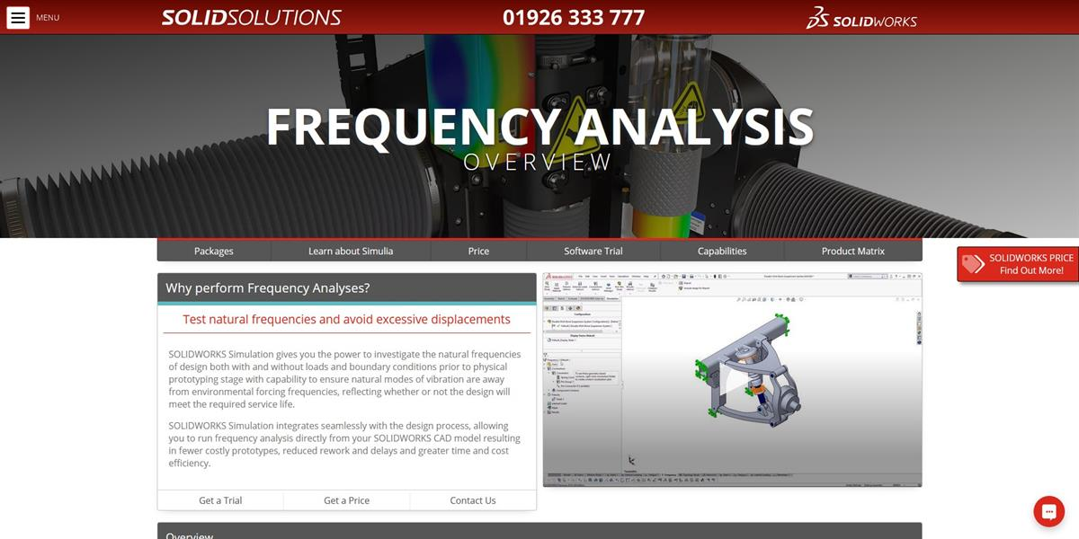 Frequency Analysis In Solidworks 3d Cad Design