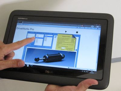 DriveWorks on a Tablet